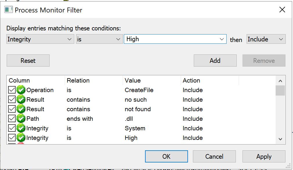 procmon filters